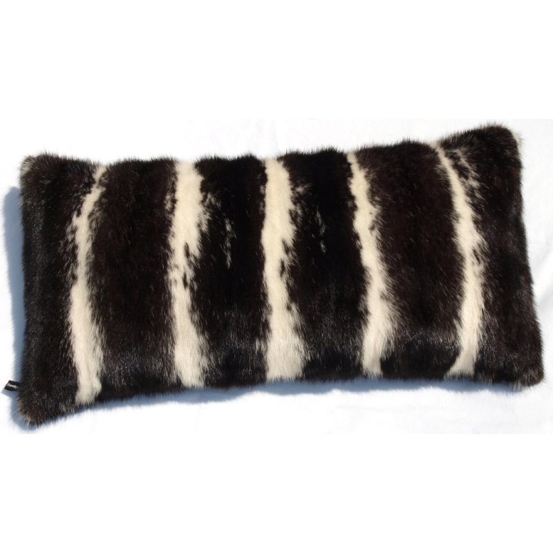 nerz kissen beidseitig pelz pillow dark mink 30x60cm eva. Black Bedroom Furniture Sets. Home Design Ideas