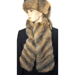 Schal Grisfuchs Pelz Herren Damen Mode 170cm Nature