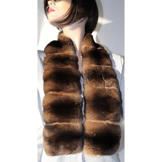 Schal Chinchilla Pelz Fur Scarf Nature Camel Braun